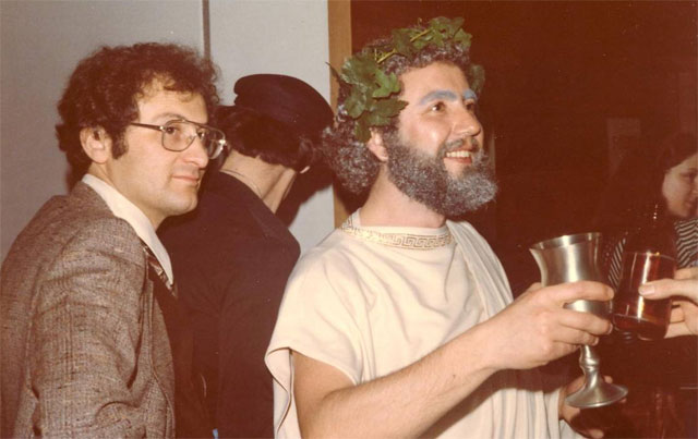 Vangelis Catevatis and Peter Capadouca, Greek Day organizers, 1977