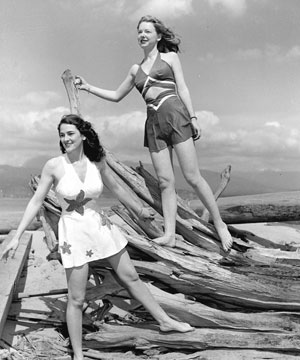 Kits Beach Bathers, 1945