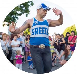 Greek Day dancer - circle2