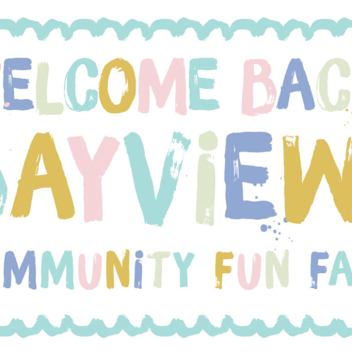 Welcome Back and Welcome Fun!  Bayview Community Fun Fair