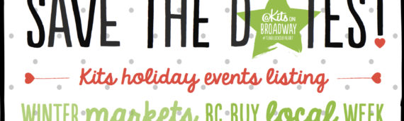 Save the Dates! Community Events Listing – Holiday Edition!