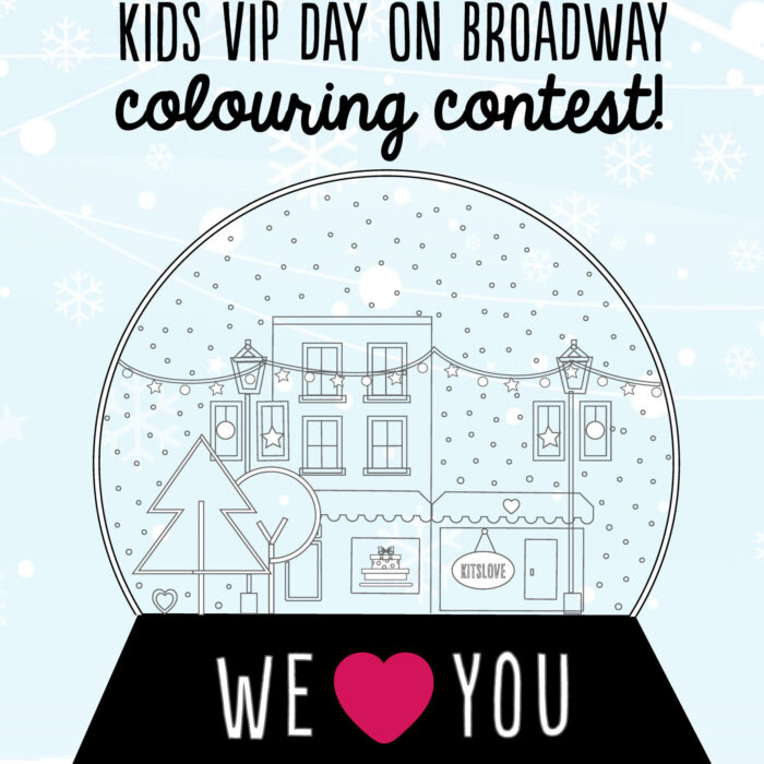 Kids VIP Day on Broadway - Holiday Colouring Contest!